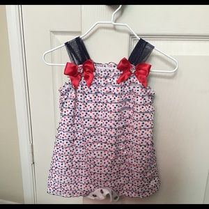 Red White Blue Star Romper